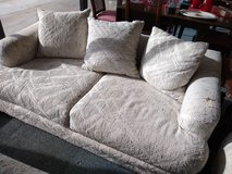 White Textured Loveseat in St. Charles, Illinois