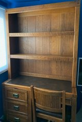 Wood desk with drawers shelf in Batavia, Illinois