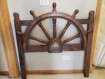 Captain/ Pirate Ship Wheel Headboard in Naperville, Illinois
