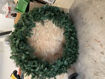 Large Christmas wreath in Beaufort, South Carolina
