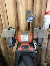 Central Machinery 8 inch Bench Grinder with Goose Neck Lamp in Bolingbrook, Illinois