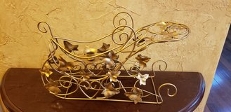 Gold Metal Candle Holder Sleigh in Chicago, Illinois