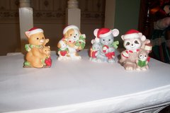 Vintage HOMCO 5180 Compete Set of 4 Christmas Animal Figurines in Conroe, Texas