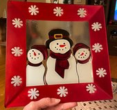 Square Snowman Plate in Bolingbrook, Illinois