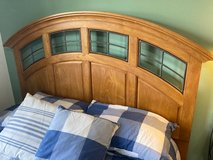 SOLID Wood 4 Piece Bedroom Set - Queen Bed Frame, Dresser, Mirror, Chest of Drawers in St. Charles, Illinois
