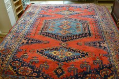 Beautiful Persian Rug CARPET hand-knotted orange & blue 337 x 240 cm(133 x 97inches) best quality in Wiesbaden, GE