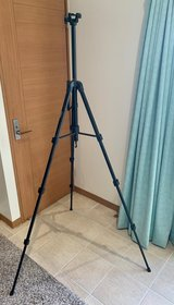 Albott Professional camera video tripod with bubble level (from about 1.5' to nearly 6' tall) in Okinawa, Japan