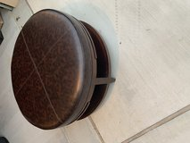 Leather Ottoman in Tomball, Texas