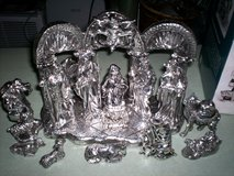 14 pc. silverplate nativity set in Fort Knox, Kentucky