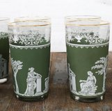 Wedgwood Jasperware Jeanette Green Greek Drinking Glasses Hellenic (12 each) in Wiesbaden, GE
