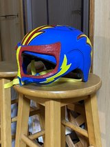 Kids Nacho Libre bike helmet in Okinawa, Japan