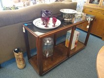 Wood Sofa Table with Smoke Glass Top in Bartlett, Illinois