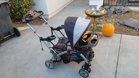sit n stand double stroller in Fairfield, California