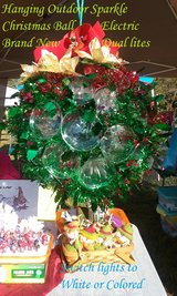 Brand New Handmade Holiday Holly design hanging Sparkle Ball in Fort Eustis, Virginia