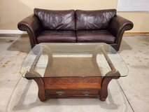Leather couch set in Joliet, Illinois