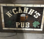 Stained Glass Lighted Bar Sign in St. Charles, Illinois