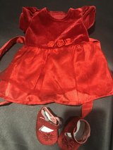 """Fancy red doll Christmas outfit-fits American girl 18"""" dolls in St. Charles, Illinois"""