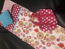 Doll sleeping bag and overnight bag fits American Girl dolls in St. Charles, Illinois