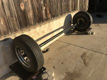 """Complete 3500 Lbs. Trailer Axle Assembly (hydraulic Brakes) 14"""" Chrome Wheels in Camp Pendleton, California"""
