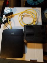Cisco Linksys Wireless-N300 Router, and Modem Model E1200 NP v2 in Naperville, Illinois