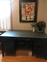 Mid-Century Steel Tanker Desk in Batavia, Illinois