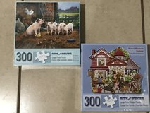 2 Brand New Puzzles by Bits and Pieces 300 Piece Sealed in Travis AFB, California