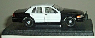 NEW 1/24 Die Cast Squad Cars Police Patrol Cruiser w Lights & Display Case in Morris, Illinois