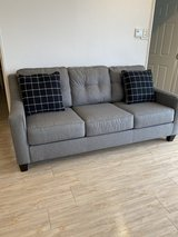 Ashley Queen Size Gray Sofa Bed in Okinawa, Japan