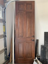 6 Panel Stained Interior Door 8 ft by 34 inches with lock in Batavia, Illinois