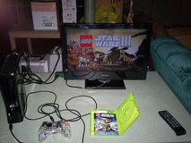 Xbox 360 with star wars 3 game & 250 HD - HDMI cord & power plug & controller in Fort Knox, Kentucky