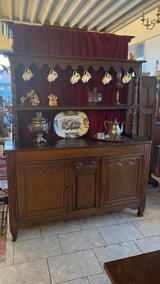 rustic 200 year old tiger oak buffet with shelves in Wiesbaden, GE