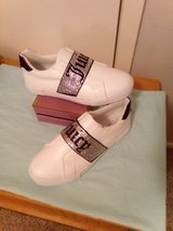Juicy Couture White Laceup Sneaker w/ Rhinestone Strap in Tomball, Texas