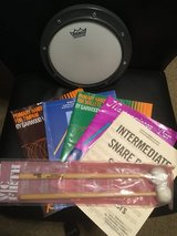 Drum Practice Pad with Mallets and Instructional Books in Naperville, Illinois
