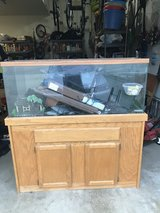 55 Gallon Fish Tank, Stand, lights and accessories in Batavia, Illinois
