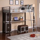 twin metal loft bed in Batavia, Illinois