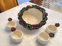 Vintage 1953 Eggnog Bowl with 4 cups in Tinley Park, Illinois