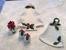 Vintage 1970-71 Holiday Serving Dishes, bell, and Salt & Pepper Shaker in Tinley Park, Illinois