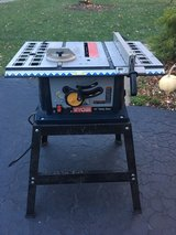 "Ryobi 10"" Table Saw with stand in Batavia, Illinois"