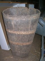 OLD -wooden grapecontainer in Ramstein, Germany