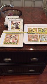 platters and 6 plates cat themed-never used-large platter/midsize platter and plates all for one... in Beaufort, South Carolina