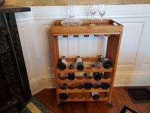 Crate & Barrel Wheeled Wine Cart w/Removable Serving Tray in Fort Lewis, Washington