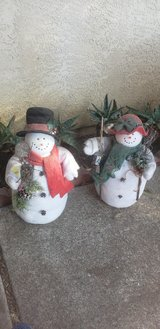 Snowman decoration in Travis AFB, California