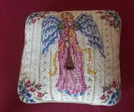Needlepoint Angel Pillow in Chicago, Illinois