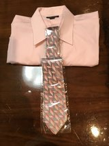 Men's Long Sleeve Shirt with Tie (Excellent Condition) in Okinawa, Japan