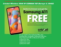 Switch to Cricket Wireless 6946 W CERMAK RD This Holidays!! & Get a Free Samsung A11 with 32gb o... in Westmont, Illinois