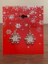 Snowflake Earrings, New in package in Chicago, Illinois