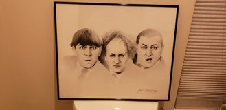Three Stooges Lithograph (rare) in Camp Pendleton, California