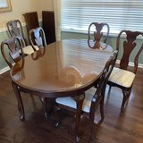 Thomasville Cherry Oval Queen Anne Dining Set Table & 6 Chairs in St. Charles, Illinois