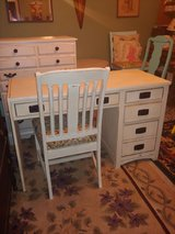 Desk & Chair. all Wood. 4 Drawers. Shabby chic in Tomball, Texas