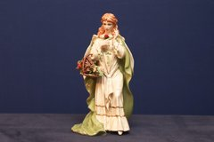 FRANKLIN MINT PORCELAIN MUSICAL FIGURINE ROSE OF TRALEE WITH PAPERWORK in Travis AFB, California